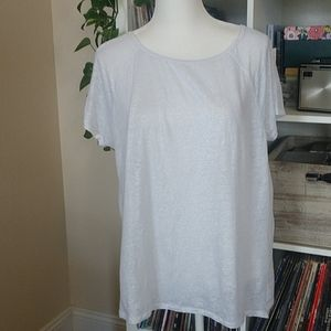 3/$20 Tommy Bahama White Linen Blouse